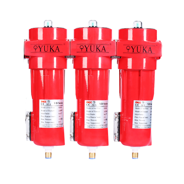 High Pressure Industrial 0.01 Micron Compressed Pipeline Air Filter YD025